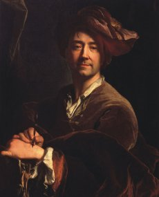 1711 - autoportrait à la plume (Versailles)