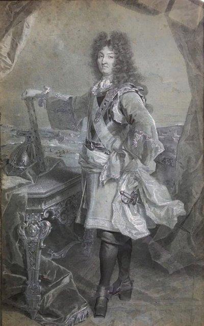 Hyacinthe Rigaud, Portrait of Louis XIV 50,2 x 31,5 coll. Arnaud de Gramont